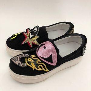 Kenzo Women Platform Slip On Sneakers Shoe 7 EU 37